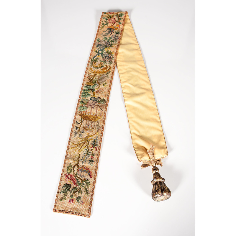 Chinoiserie Needlepoint Bell Pull