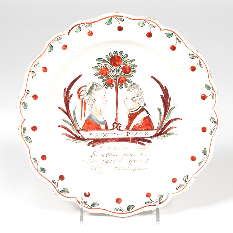 William of Orange Creamware Plate