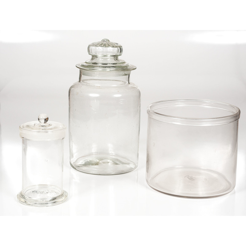 Blown and Molded Glass Jars