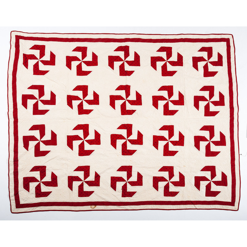 Pieced Quilt with Pinwheel Pattern