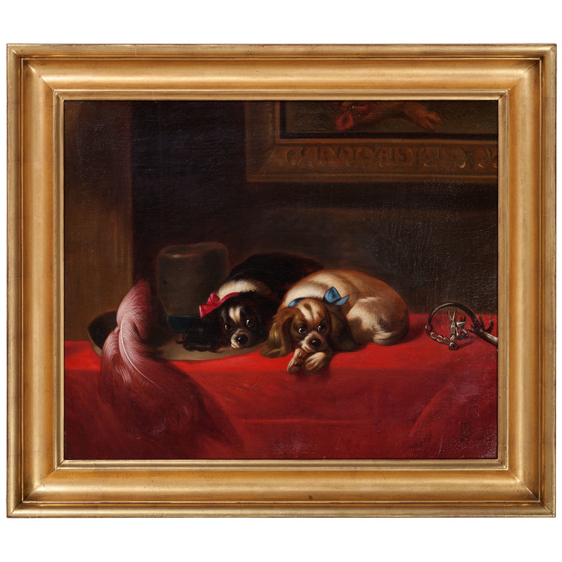 Portrait of Two King Charles Spaniels, After Edwin Landseer