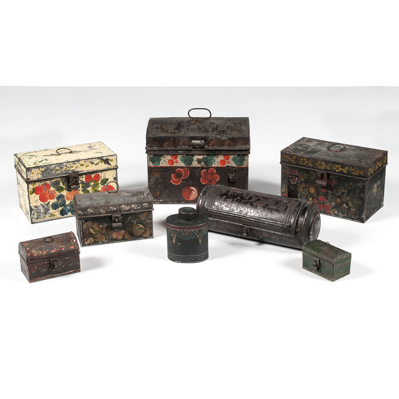 Painted Tin Boxes