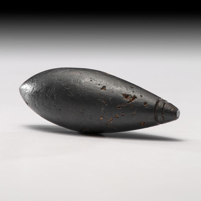 A Double Grooved Hematite Plummet, 3-1/4 in.