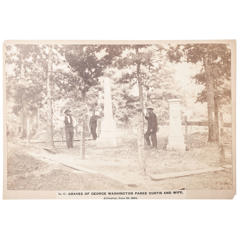 A.J. Russell Salt Print of Lee Family Graveyard