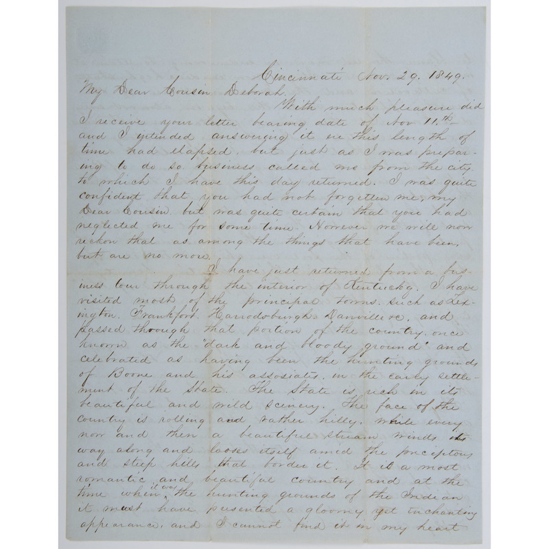 Two Fine Early Ohio Valley Letters, Including Kentucky Content, PLUS
