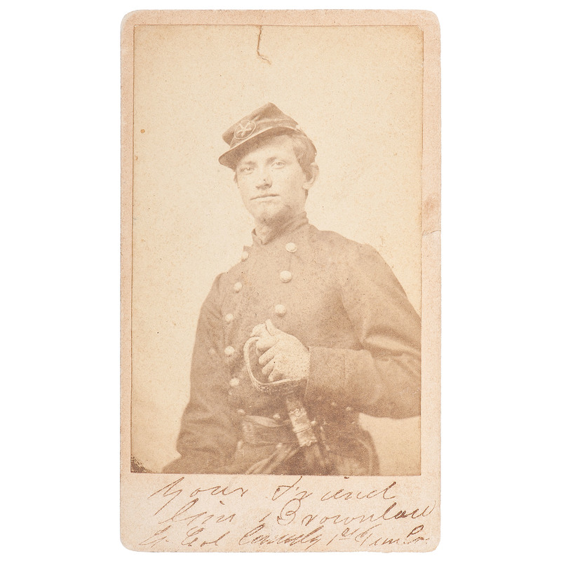 Lieutenant Colonel James Patton Brownlow, 1st Tennessee Volunteer Cavalry, CDV