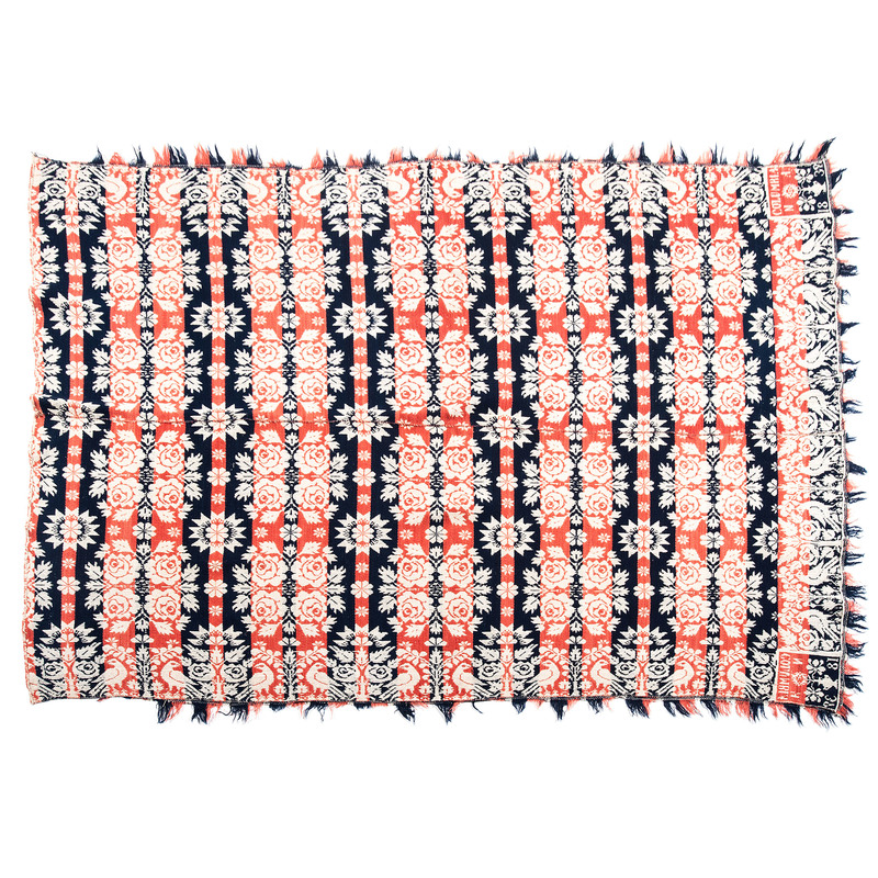 Woven Coverlets, One Signed and Dated