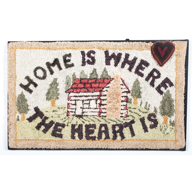Home Is Where The Heart Is Hooked Rug