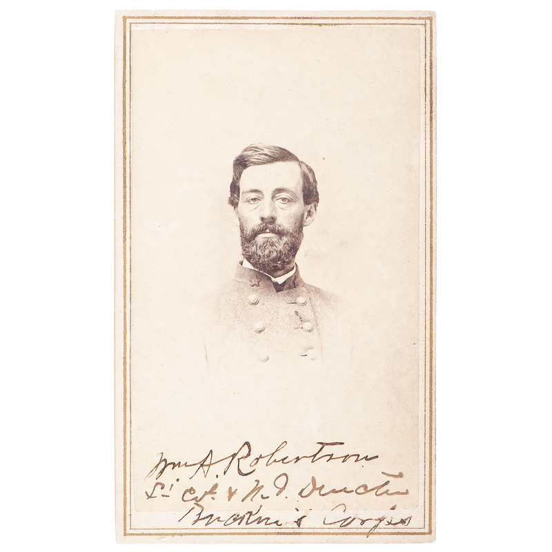 Lieutenant Colonel William A. Robertson, 6th Louisiana Infantry, CDV