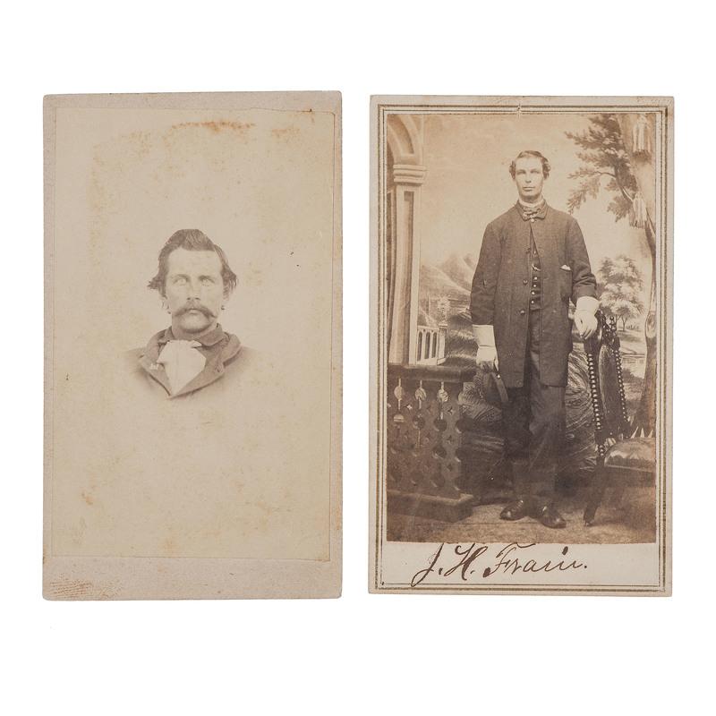 Gettysburg POWs, Sergeant Noyes D. Pardee and Private John H. Frain, Civil War CDVs