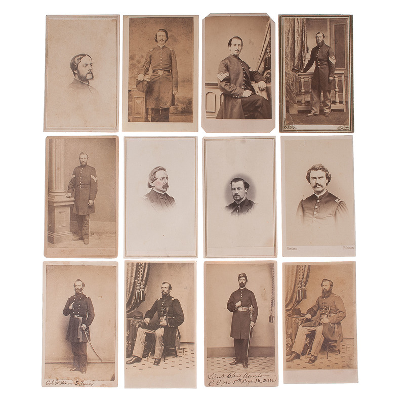 CDV Collection Featuring Portraits of Union Officers and Soldier