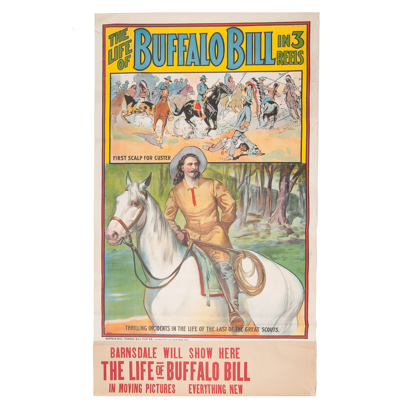 The Life of Buffalo Bill in 3 Reels, Poster