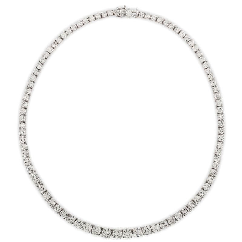 Platinum Diamond Riviere Necklace
