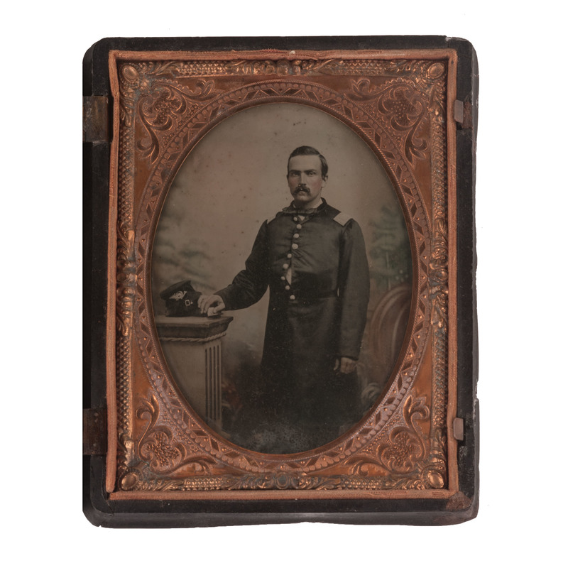 Quarter Plate Ambrotype of a Union Officer