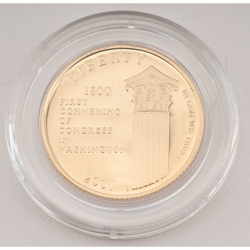 United States Capitol Visitor Center $5 Gold 2001-W, Proof