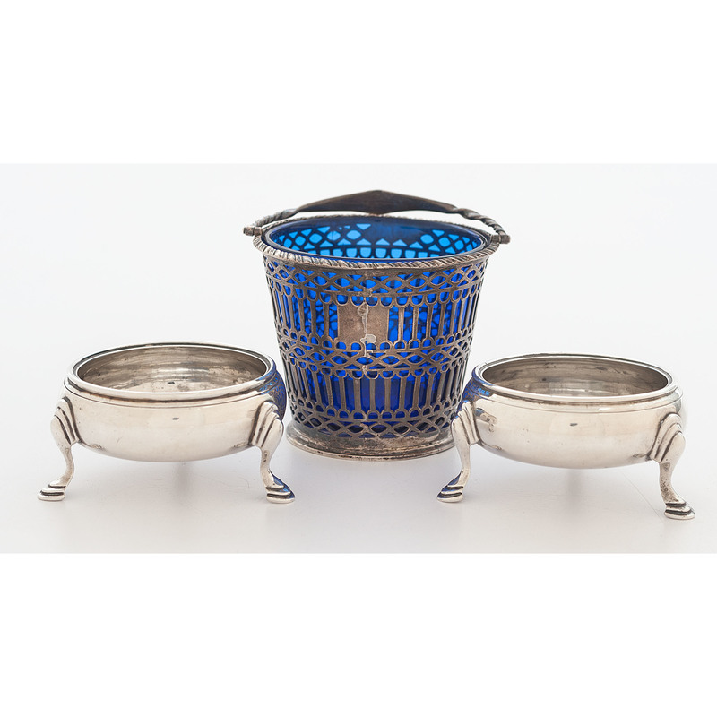 Georgian Sterling Salts and Sugar Basket