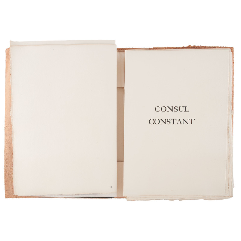 Consul Constant, Poems by Pierre Lecuire and  Etchings by Alain de la Bourdonnaye