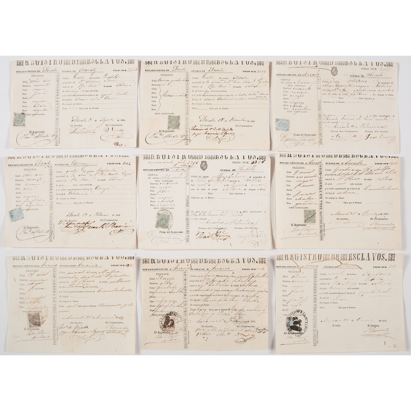 Slavery Documents from Puerto Rico and Cuba
