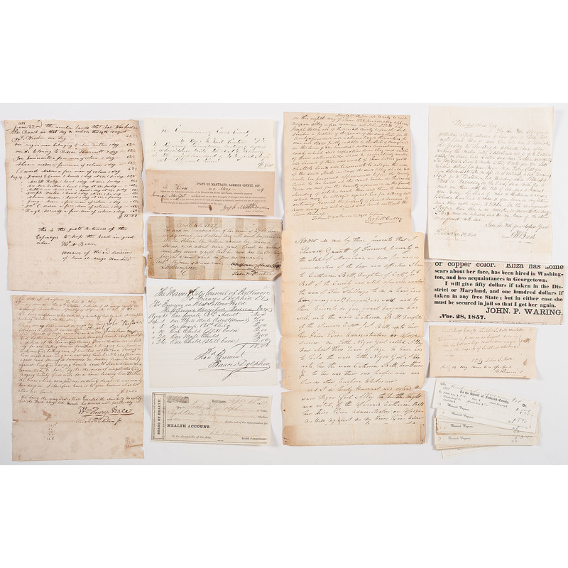 Documents Related to Slavery from Maryland
