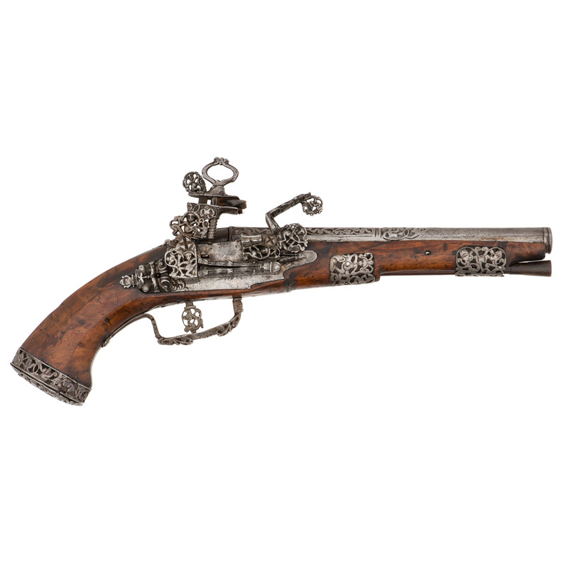 Chiseled Neapolitan  Miquelet Pistol