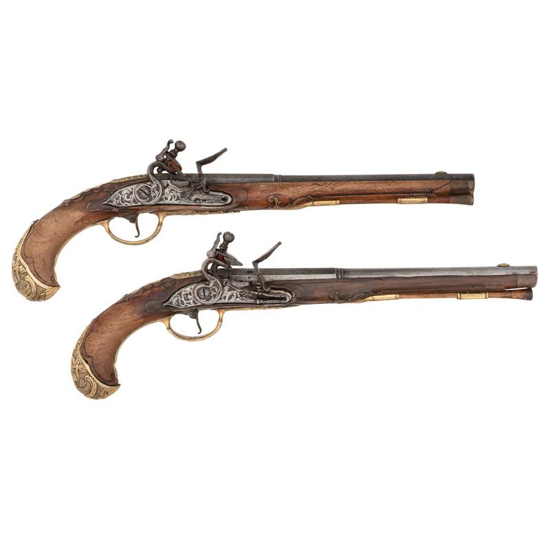 Pair of German Flintlock Pistols