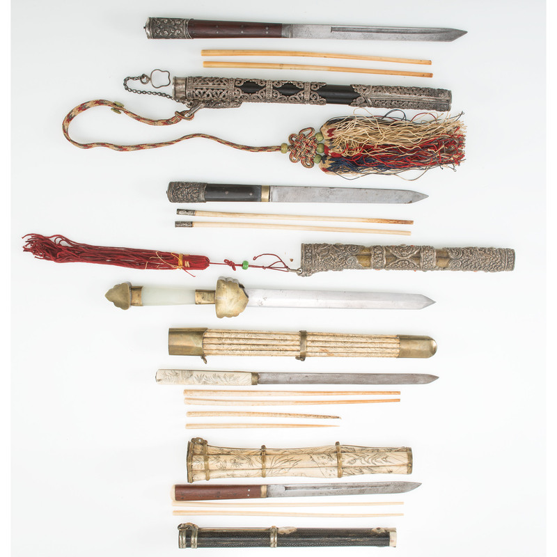 Lot of Five Chinese Trousse Sets