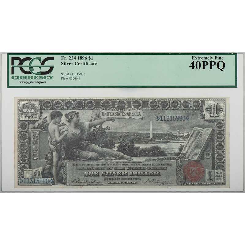 United States $1 Silver Certificate Educational Bill