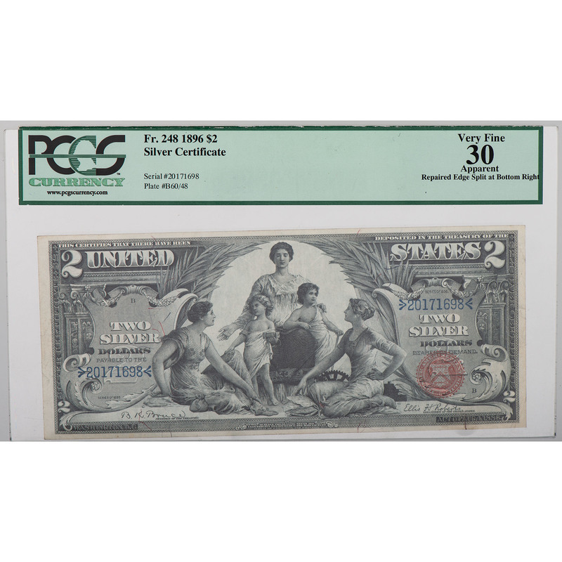 United States $2 Silver Certificate Educational Note