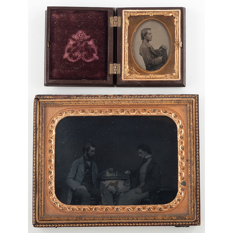 Ambrotypes of Chess Players, Including Half Plate of a Chess Match