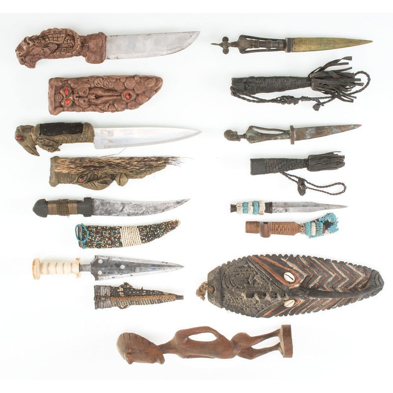 Lot of Nine African Objects