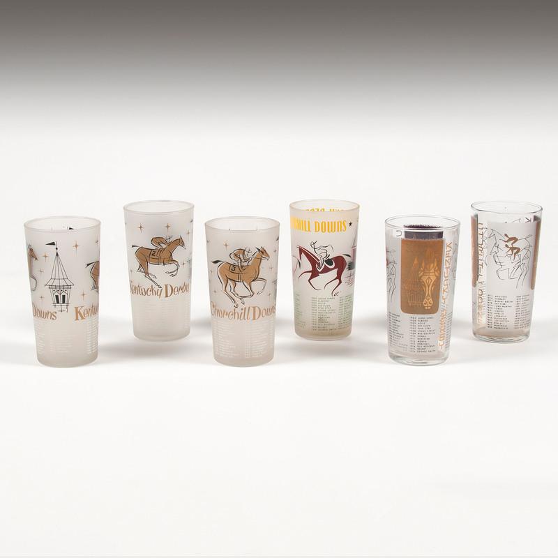 1950s Kentucky Derby Glasses