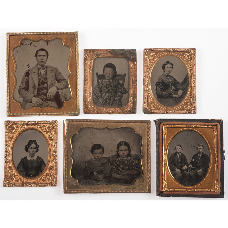 Collection of Miscellaneous Early Photography, Including Cased Images...