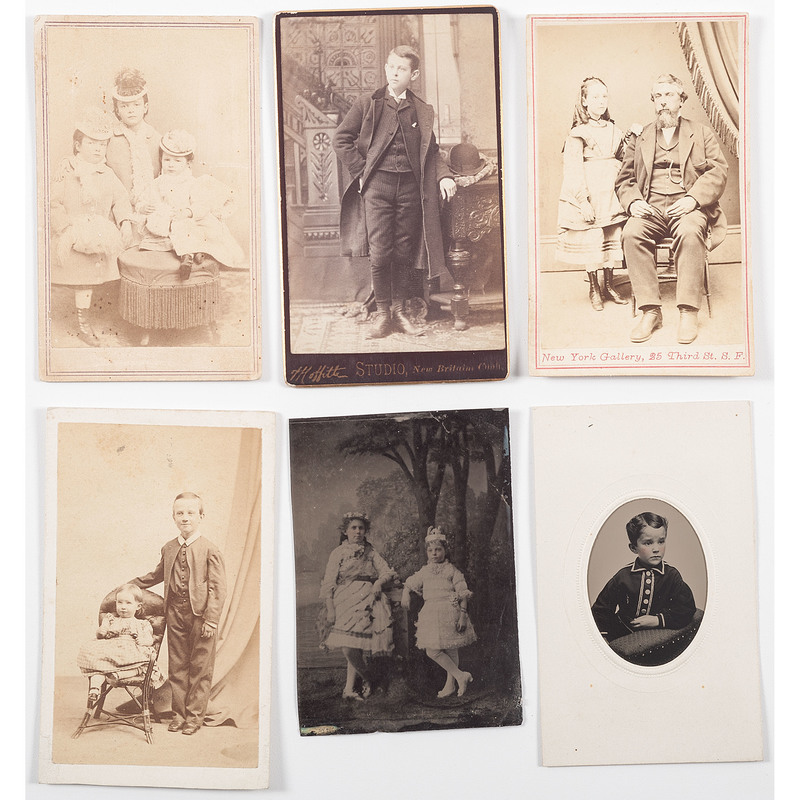 Early Photographs of Children, Lot of 48