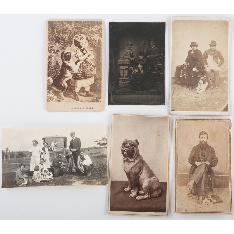 Photography Collection of People with Dogs, Lot of 6
