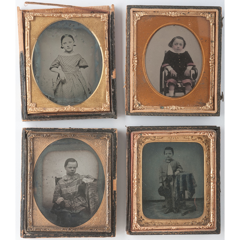 Four Sixth Plate Ambrotypes of Children