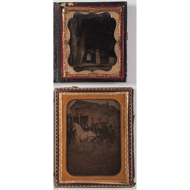 Two Ambrotypes of Interesting Outdoor Scenes
