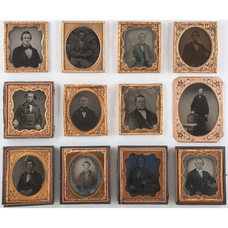 Early Photography Collection of Distinguished Gentlemen, Lot of 12
