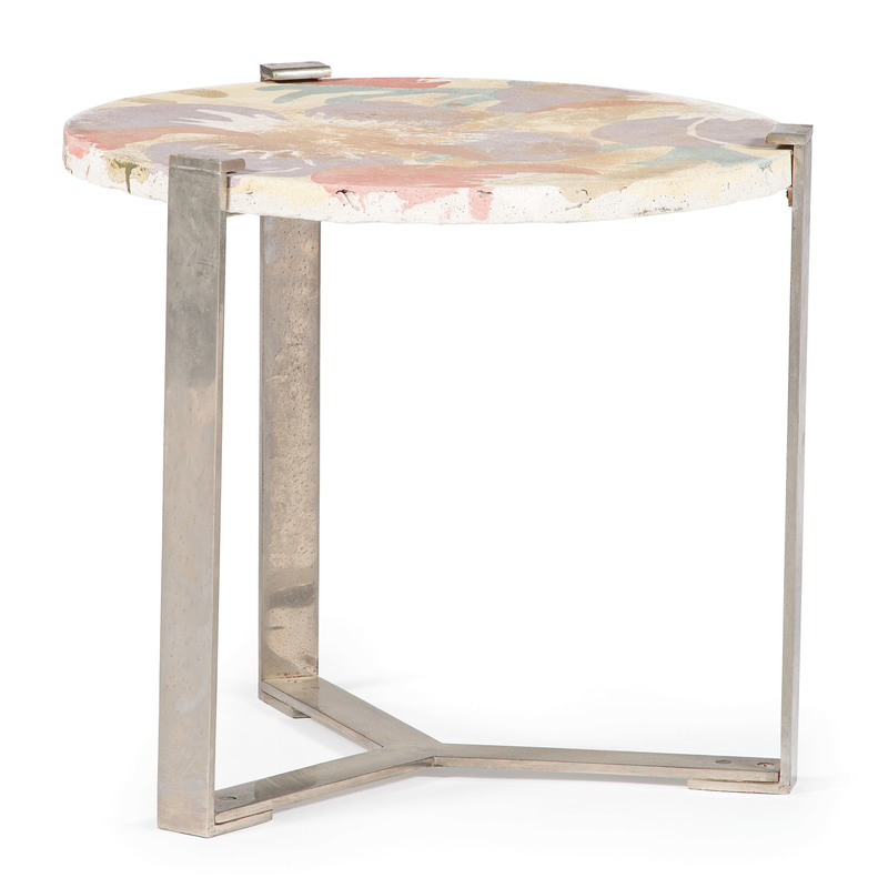 French Cast Cement and Steel Table