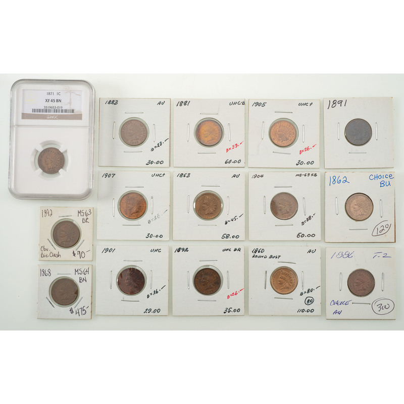 United States Indian Head Pennies