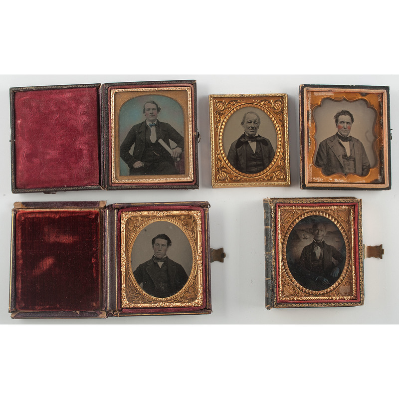Twelve Sixth Plate Portraits of Men of Various Ages