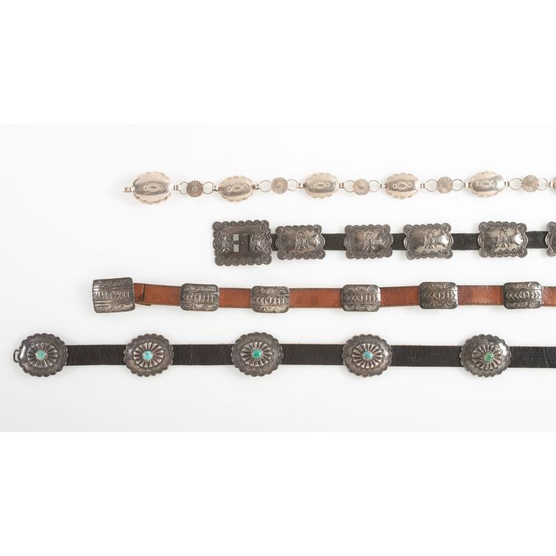 Navajo Silver Concha Belts