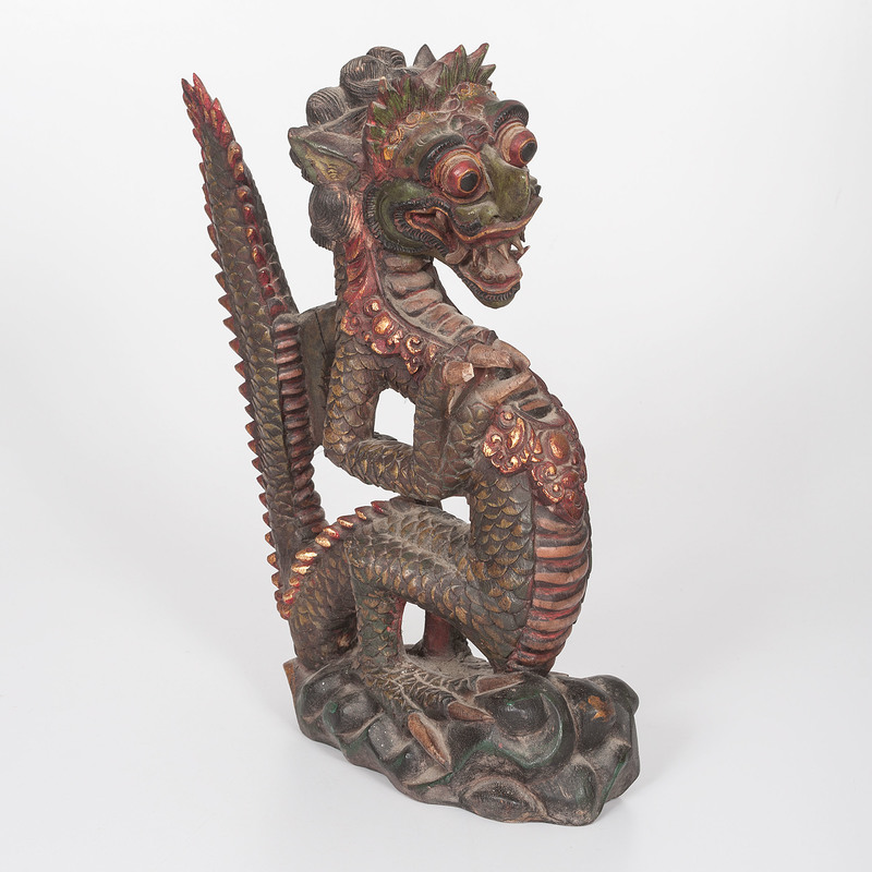 Indonesian Carved Wooden Dragon