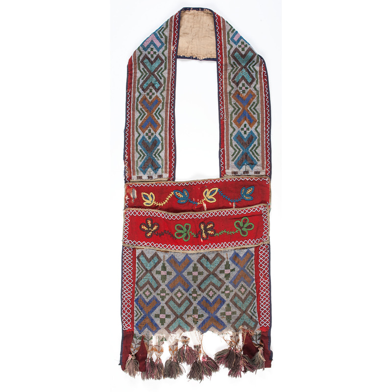 Anishinaabe Loom-Beaded Bandolier Bag