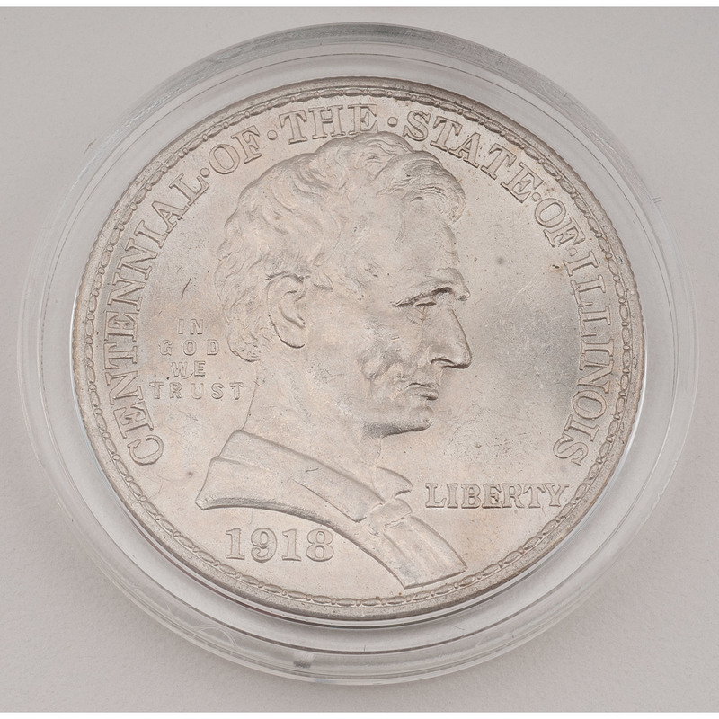 United States Illinois Centennial Commemorative Half Dollar 1918