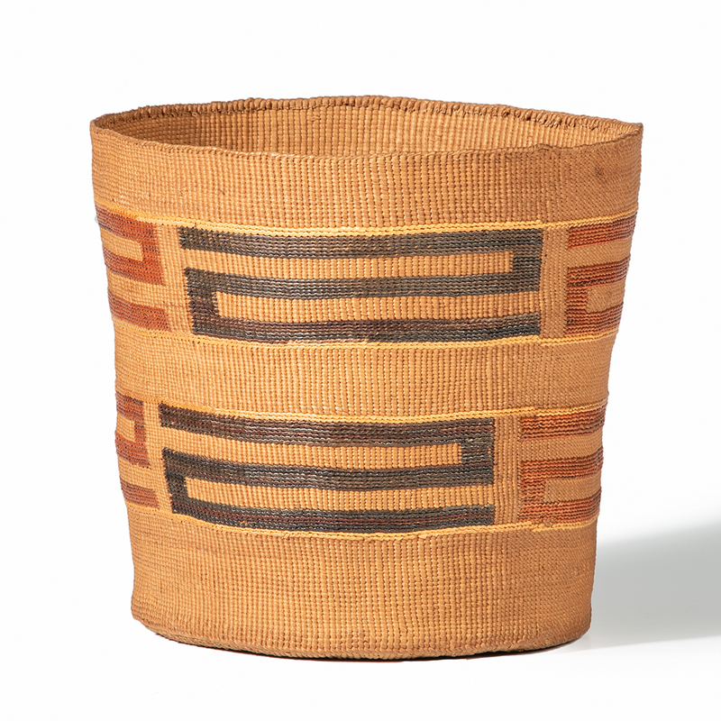 Tlingit Polychrome Basket, Deaccessioned from the Cass County Historical Society, Minnesota