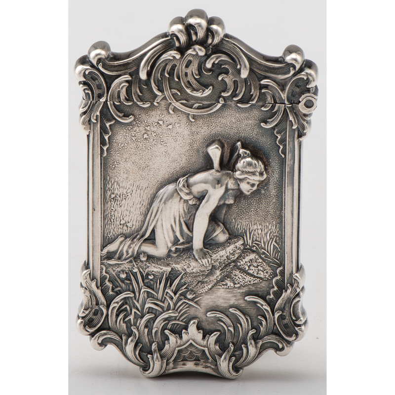 Kerr Sterling White Rock Fairy Match Safe