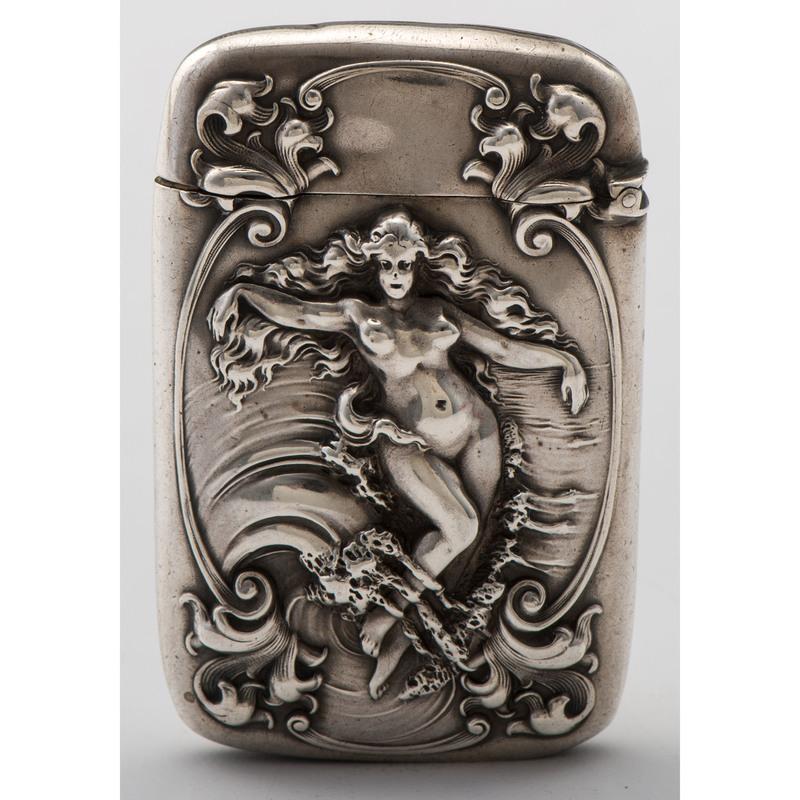 Gorham Sterling Art Nouveau Match Safe