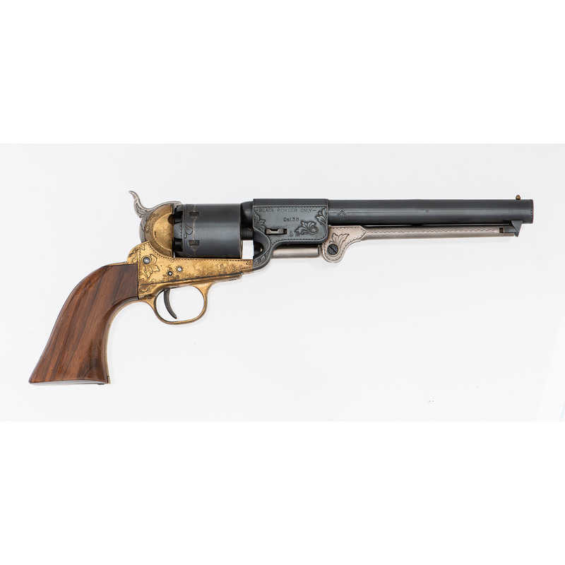 Uberti Brass Frame Copy Of Griswold Percussion Revolver