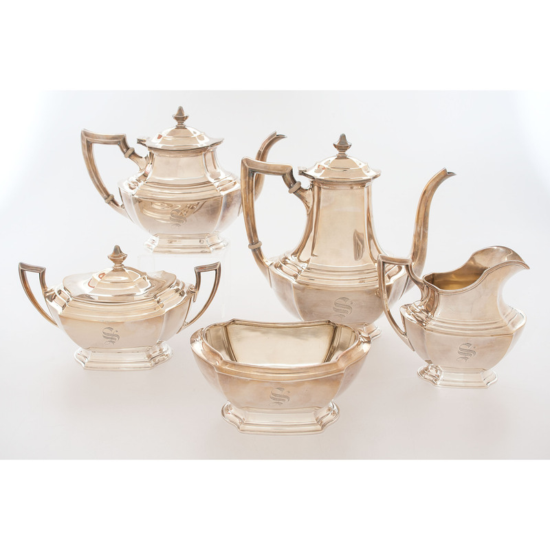 Wallace Sterling Five-Piece Tea and Coffee Service