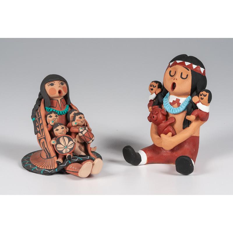 Carol Lucero Gachupin (Jemez, b. 1958) Storyteller Pottery Figure PLUS